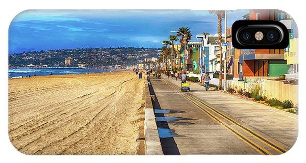 Mission Beach Boardwalk IPhone Case