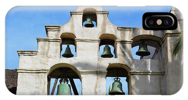 San Gabriel Mission iPhone Case - Mission San Gabriel Bells by Kyle Hanson