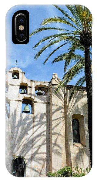 San Gabriel Mission iPhone Case - Mission San Gabriel Portrait by Kyle Hanson