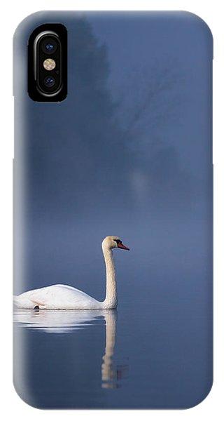 Misty River Swan 2 IPhone Case