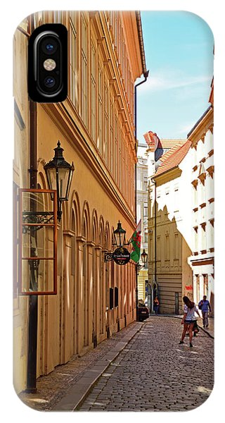 iPhone Case - Model In Streets Of Prague by Kathy Yates