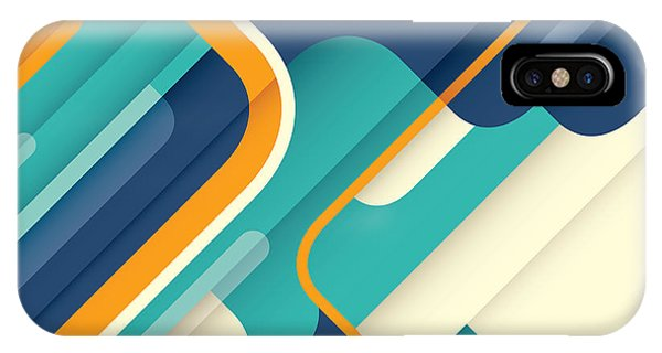 Orange Color iPhone Case - Modern Abstract Illustration In Color by Radoman Durkovic