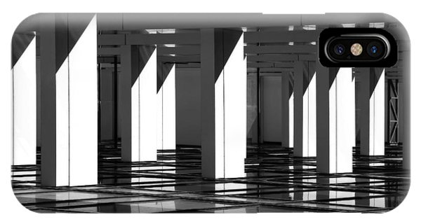 Office Buildings iPhone Case - Modern Abstract In Architecture by Protasov An