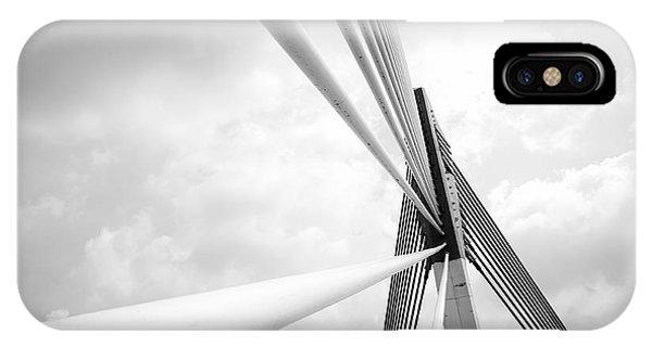 Iron iPhone Case - Modern Bridge Architecture At Putrajaya by Azrisuratmin