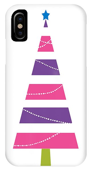 Christmas Tree iPhone Case - Modern Glam Christmas Tree 1- Art By Linda Woods by Linda Woods