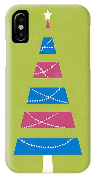 Christmas Tree iPhone Case - Modern Glam Christmas Tree 3- Art By Linda Woods by Linda Woods