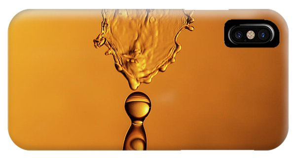 IPhone Case featuring the photograph Molten Caramel Water Drop Collision by SR Green