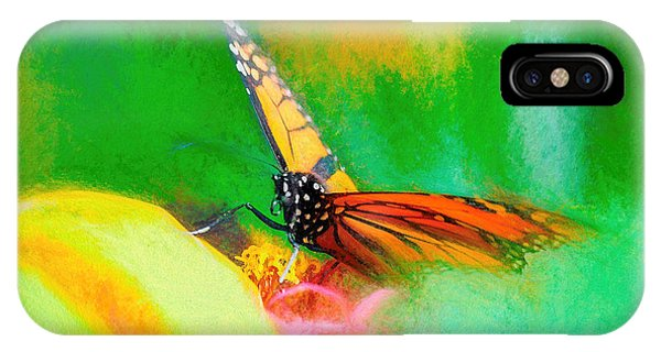 IPhone Case featuring the photograph Monarch Butterfly Beautiful Smudge by Don Northup