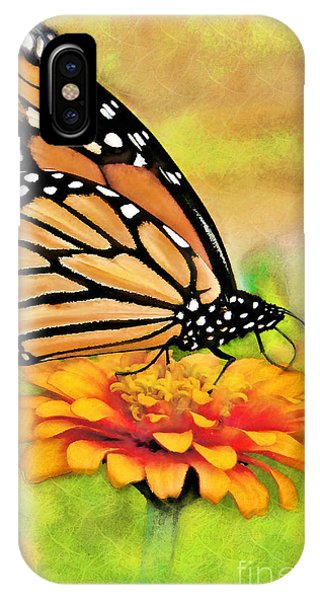 Monarch Butterfly On Flower IPhone Case