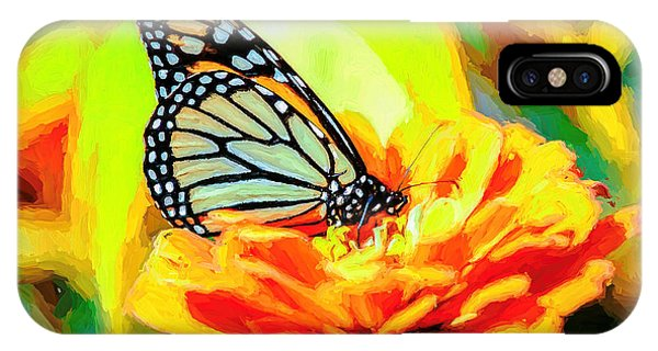 IPhone Case featuring the photograph Monarch Butterfly Van Gogh Style by Don Northup