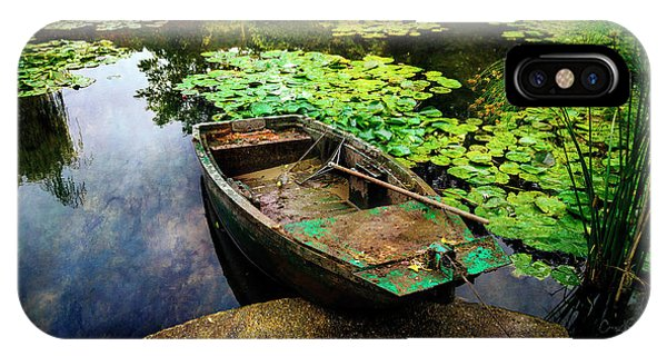 Monet's Gardeners Boat IPhone Case