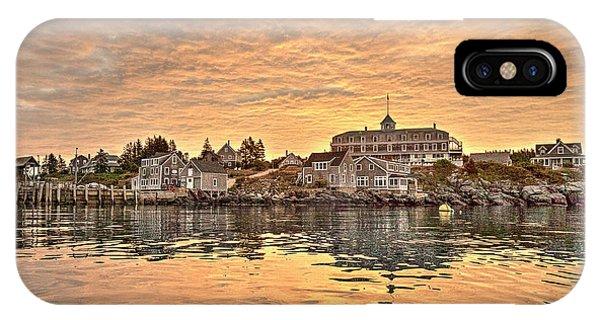 Monhegan Sunrise - Harbor View IPhone Case