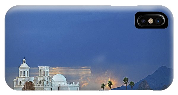 Monsoon Skies Over The Mission IPhone Case