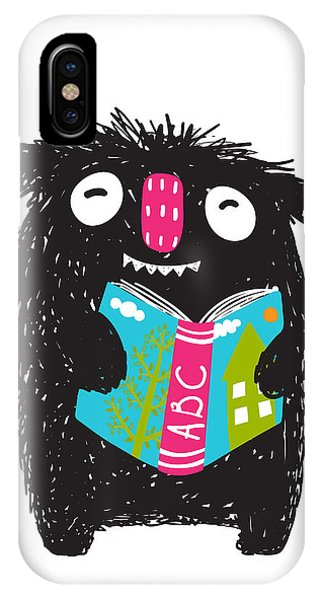 Students iPhone Case - Monster Reading Abc Book Cartoon For by Popmarleo
