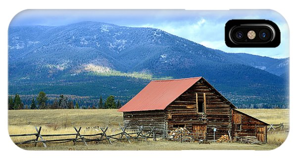 Montana Ranch Building IPhone Case