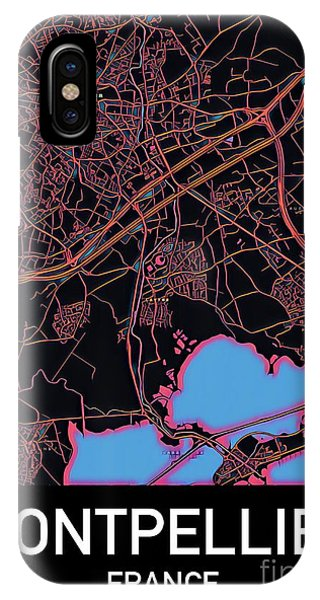 Montpellier City Map IPhone Case