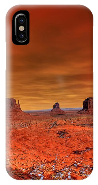 Ethnic iPhone Case - Monument Valley Arizona With Evening by Paul B. Moore
