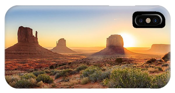 Dawn iPhone Case - Monument Valley Twilight, Az, Usa by F11photo