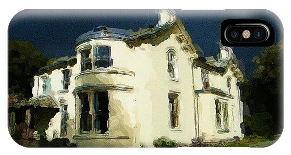 Moody Sky Over Allenbank Painting IPhone Case