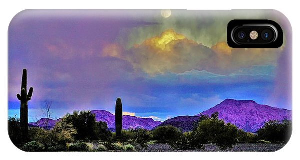 Moon At Sunset In The Desert IPhone Case
