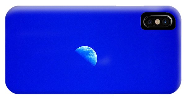 Moon In A Daytime Sky IPhone Case