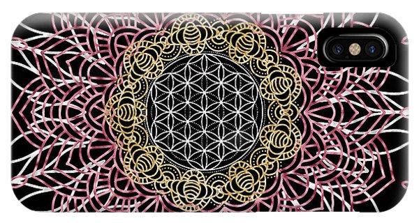 IPhone Case featuring the digital art Moon Mandala by Bee-Bee Deigner