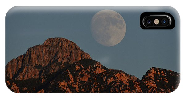 Moon Rise Over Mount Wrightson  IPhone Case
