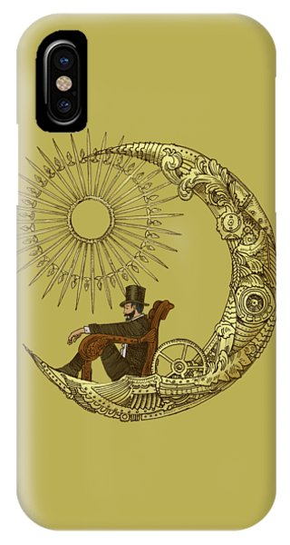 Illustration iPhone Case - Moon Travel - Option by Eric Fan
