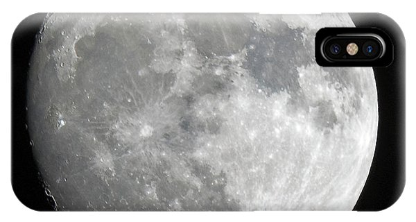 IPhone Case featuring the photograph Moon Waxing Gibbous by Edward Peterson