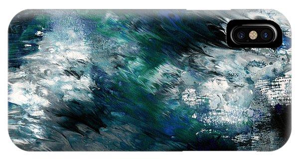 Dark Blue iPhone Case - Moonlight Ocean- Abstract Art By Linda Woods by Linda Woods