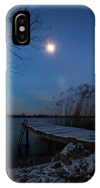 Moonlight Over The Lake IPhone Case