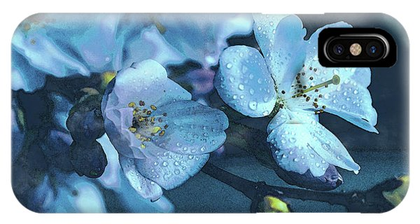 Moonlit Night In The Blooming Garden IPhone Case