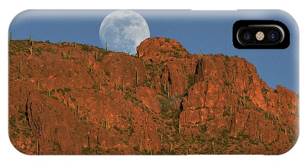 Moonrise Over The Tucson Mountains IPhone Case