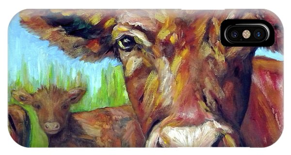 Wheeler Farm iPhone Case - Moooo Me? by JoAnn Wheeler
