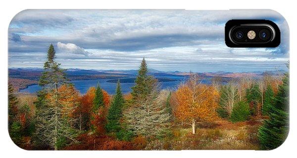 Mooselookmeguntic Lake Fall Colors IPhone Case