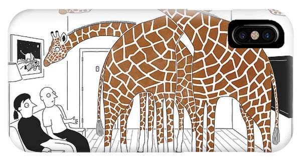 Space iPhone Case - More Giraffes by Seth Fleishman
