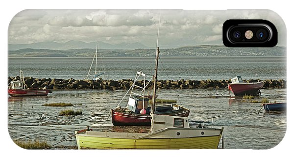 Morecambe. Boats On The Shore. IPhone Case
