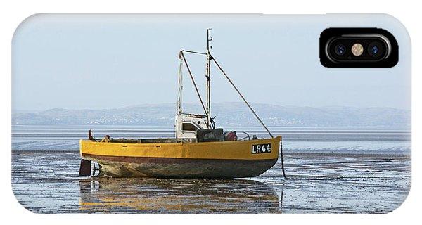 Morecambe. Yellow Fishing Boat. IPhone Case