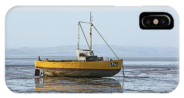 Morecambe. Yellow Fishing Boat. IPhone Case