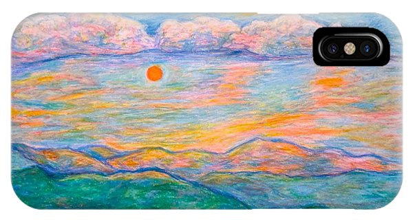IPhone Case featuring the pastel Morning Color Dance by Kendall Kessler
