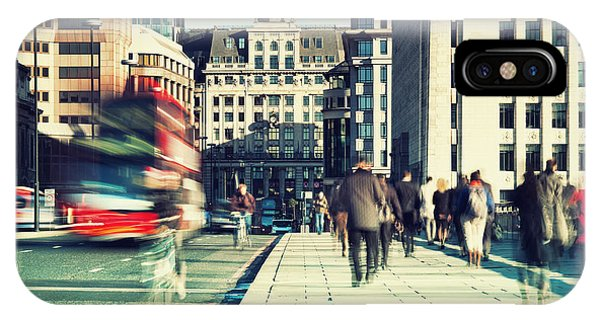 Adult iPhone Case - Morning Commuters In London by R.nagy