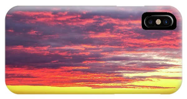 Morning Fire Over Whaleback Light IPhone Case