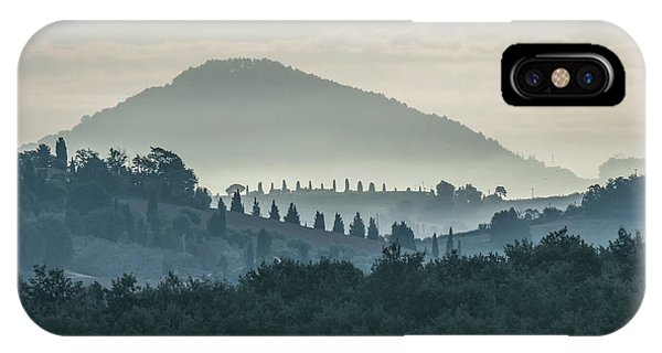iPhone Case - Morning Hills Of Toscany by Jaroslaw Blaminsky