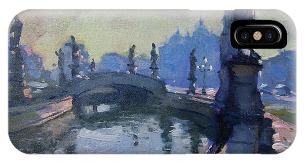 Waterscape iPhone Case - Morning In Padua Italy by Ylli Haruni