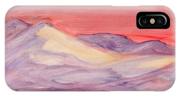 IPhone Case featuring the painting Morning Light In The Mountains by Dobrotsvet Art