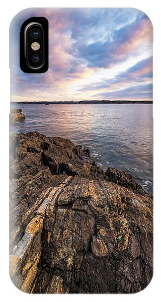 Morning Light Over The Piscataqua River. IPhone Case