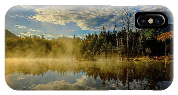 Morning Mist, Wildlife Pond  IPhone Case