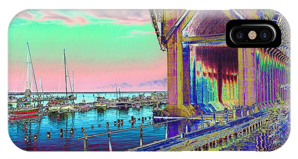 Morning Pink Marquette Ore Dock IPhone Case