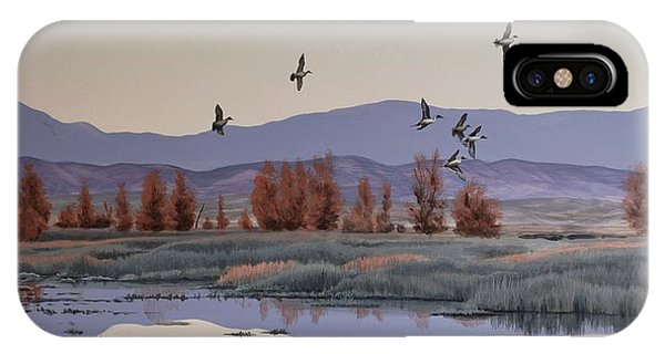 IPhone Case featuring the painting Morning Sprig by Peter Mathios
