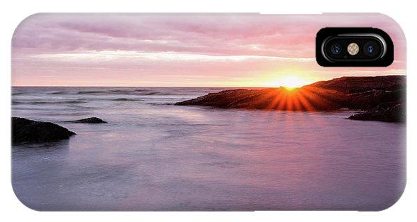 Morning Sun Good Harbor IPhone Case